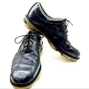 FJ FootJoy DryJoys Tour Golf Shoes Black Sz 9